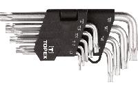 Topex Ключи шестигранные Torx T10-T50, набор 9 шт