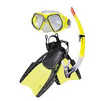 Набор для плавания маска + трубка + ласты Spokey Reff r. S/M