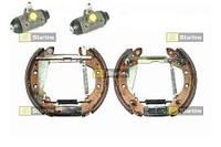 Полный тормозной комплект на ось. SKODA FAVORIT (05/89-09/94) 1.3 135 X,LX,GLX