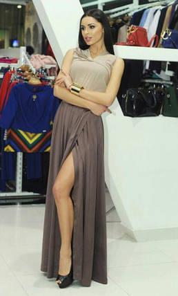 """Красивое женское платье """"Вечернее"""" Темное 42 размер норма, фото 2"""