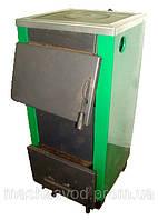 Котел твердотопливный Огонек - 25ПВ (с чугунной плитой-водогрейка)