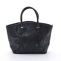 Черная женская большая сумка шоппер B.Elit 03-82 змея ( новинка )