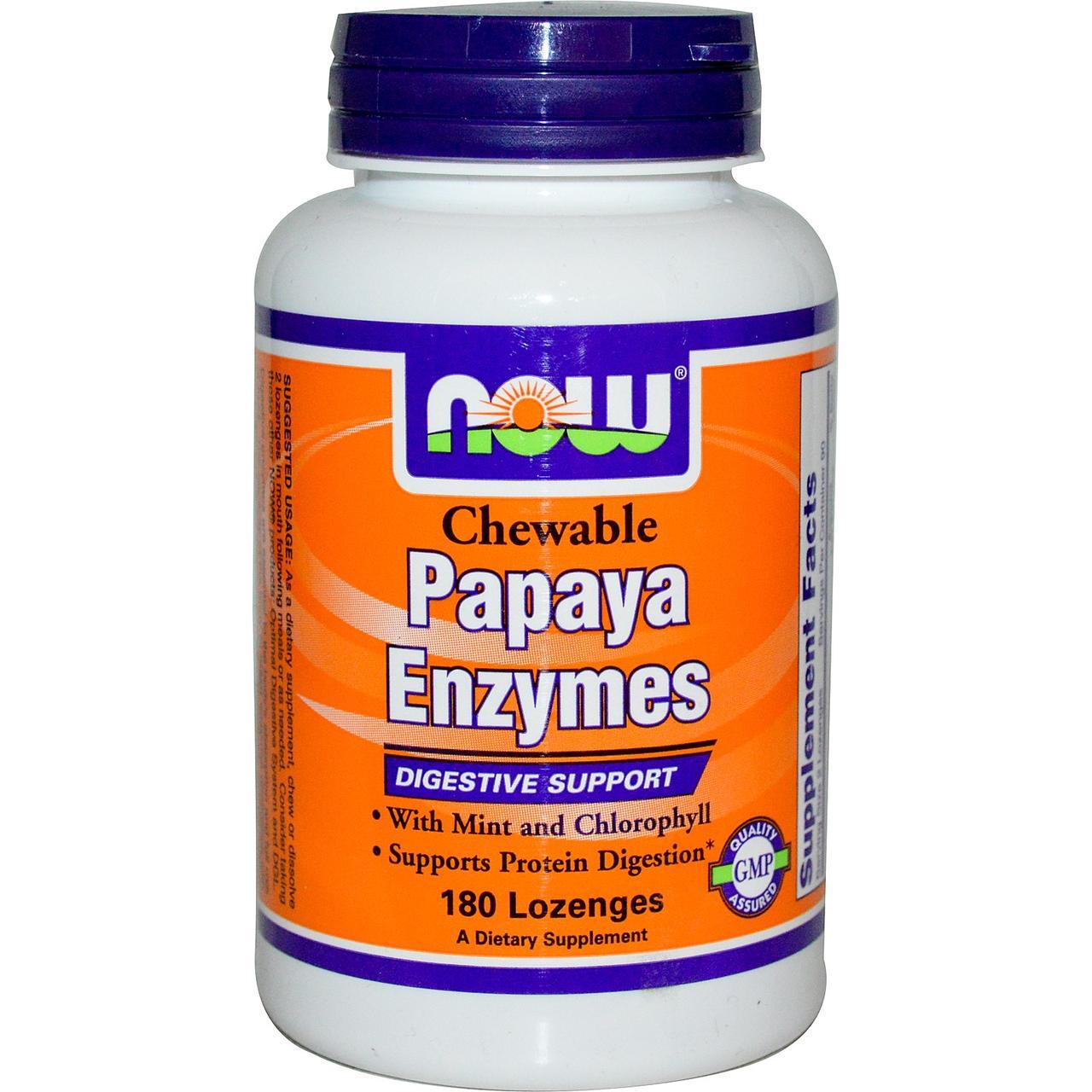 NOW Foods Papaya Enzymes 180 lozenges