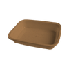 "Лоток для кухни ""S"" 255х190х50 мм шоколад"