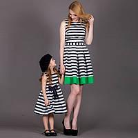 Модненькое детское платьице в полоску