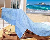 Полотенце для пляжа, бани и сауны 100 х 150 см, Голубое, Arya Miranda, Турция