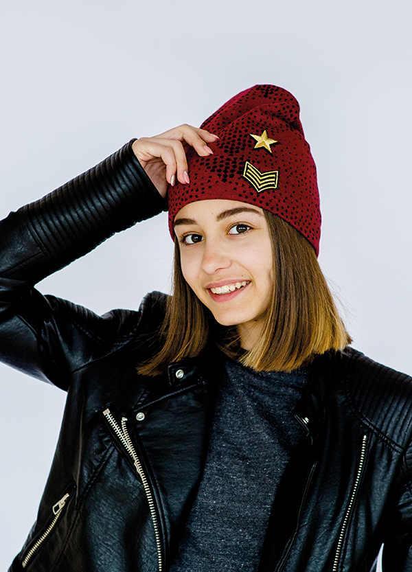 Детская шапка МИТПЕК для девочек оптом