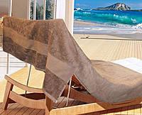 Полотенце для пляжа, бани и сауны 100 х 150 см,Коричневое, Arya Miranda, Турция