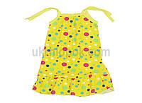 Платье летнее просторное на завязочках. Трикотажное.