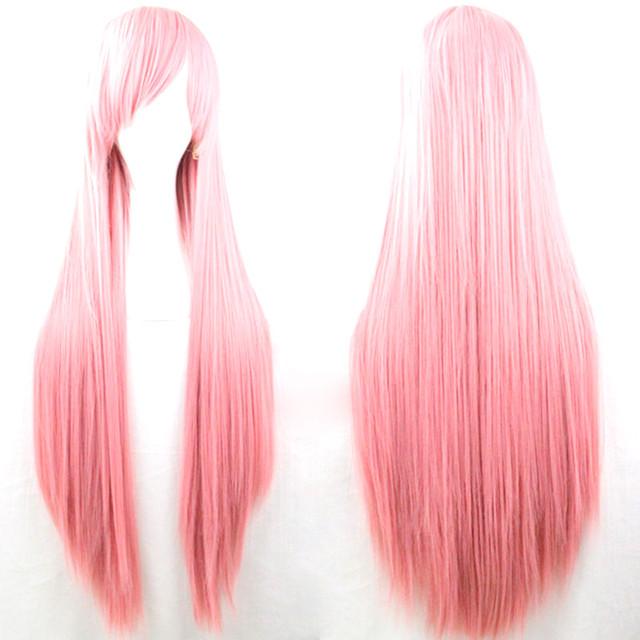 Парик искусственный розовый 80 см