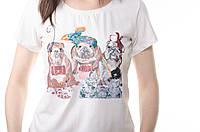 Женская футболка белая с рисунком