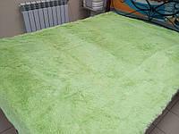 Покрывало травка длинный ворс 220х240 Koloco ,свежий салатовый