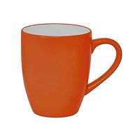 Чашка керамическая Тюльпан оранж-белый, чашка с логотипом