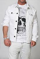Модная белая мужская джинсовка 2Y PREMIUM. Хит 2017