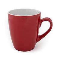 Чашка керамическая Тюльпан красно-белый, чашка с логотипом