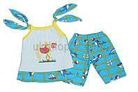 Майка и шортики комплектом на лето для деток