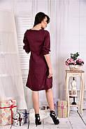 Женское платье из габардина 0549 цвет бордо размер 42-74 / больших размеров , фото 2