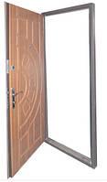 """Двери входные металлические """" СОВА """" серия Фаворит два замка  Кедр, Punto (950 х 2060) правая, левая"""