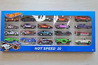 Набор машинок Hot Wheels 20 шт размер коробки 45*20*4.5 см