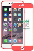 Защитное стекло iPhone 7 Plus (0.3 мм, 3D, красное, полное,с олеофобным покрытием, и покрытием Silk Screen)
