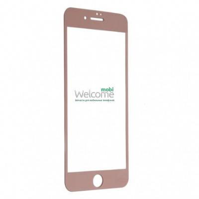 Защитное стекло iPhone 7 Plus (0.3 мм, 3D, роз золото, полное,с олеофобным покрытием, и покрытием Silk Screen) Айфон 7 +, фото 2