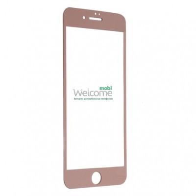 Защитное стекло iPhone 7 Plus (0.3 мм, 3D, роз золото, полное,с олеофобным покрытием, и покрытием Silk Screen) Айфон 7 +