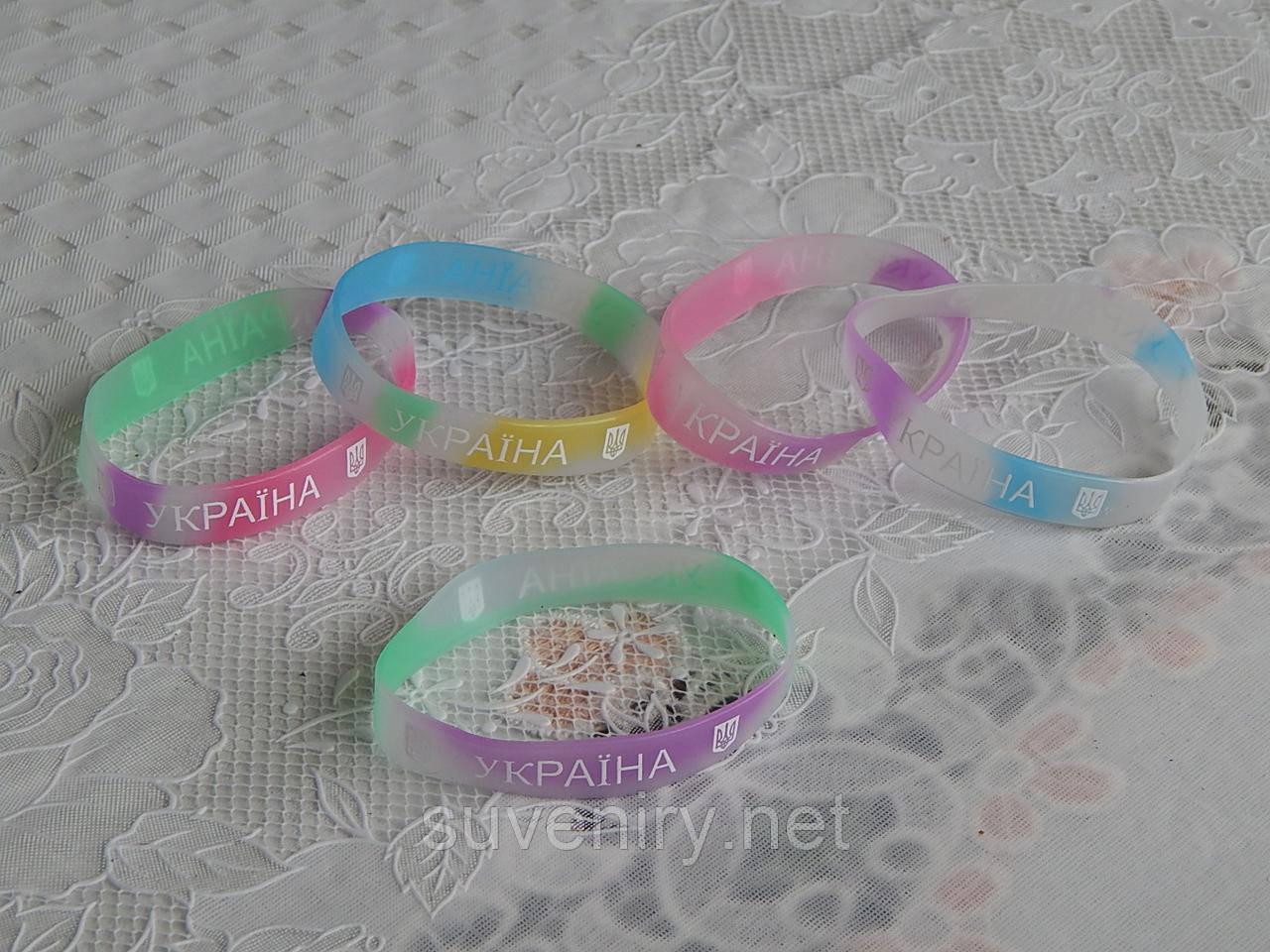 cb491f9d5c52b2 Фосфорные силиконовые браслеты на руку с надписью Украина только ...