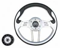 Рулевое колесо 330mm Pretech HD-5181 PU, спицы серебро, серый