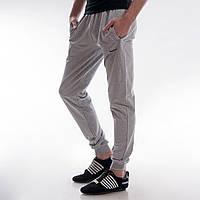 Мужские спортивные штаны Nike светло-серые c манжетами