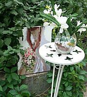 АРЕНДА Стойка подставка белая одиночная малая (высота 65 см) НАПРОКАТ