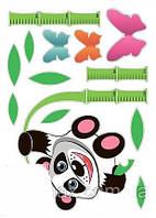 Наклейка, панда, ростомер, детская, интерьерная Наш Декупаж