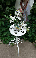 АРЕНДА- Стойка подставка белая одиночная средняя (высота 80 см)