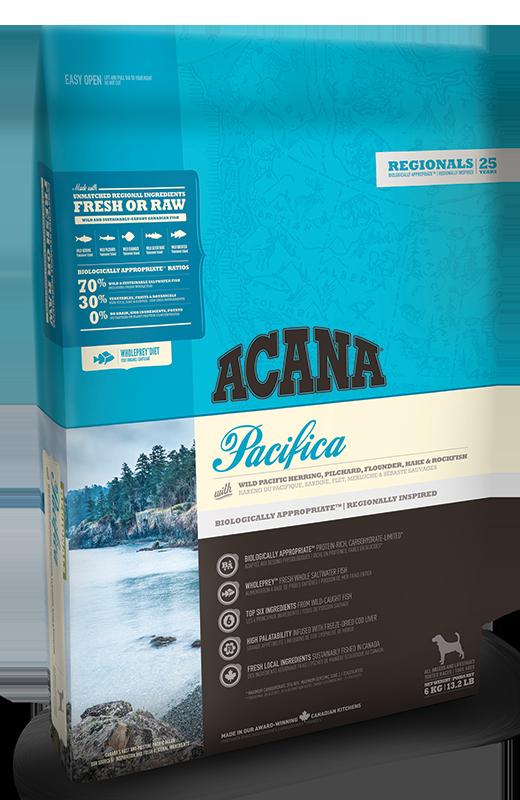 Acana PACIFICA DOG 340 г - беззерновой корм для собак (рыба)