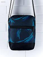 Мужская сумка через плечо Staff синяя с принтом BM0004