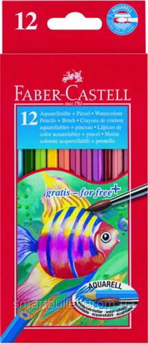 Цветные карандаши Faber-Castell 12 цв. акварельные картонная коробка 114413