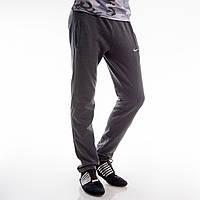 Мужские спортивные штаны с начесом Nike темно-серые