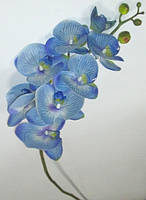 Орхидея искусственная 100 см голубая