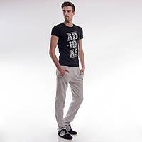 Мужские спортивные штаны с начесом Nike светло-серые