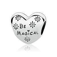 """Шарм бусина №1474 """"Disney. Будь волшебной"""" для браслета Пандора PANDORA (Серебро)"""