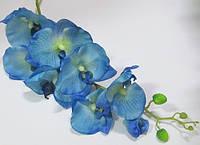 Орхидея искусственная 105 см, салатово-голубая