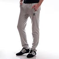 Мужские спортивные штаны с начесом Adidas светло-серые
