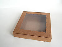 Коробка для подарка 15,5см х 15,5см х 3см, Крафт, фото 1