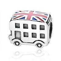 """Шарм бусина №1463 """"Британский автобус"""" для браслета Пандора PANDORA (Серебро)"""