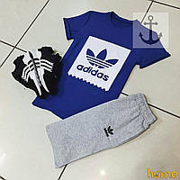 Летний комплект мужской Adidas(футболка+шорты)