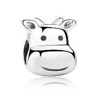 """Шарм бусина №1551 """"Неунывающая корова"""" для браслета Пандора PANDORA (Серебро)"""