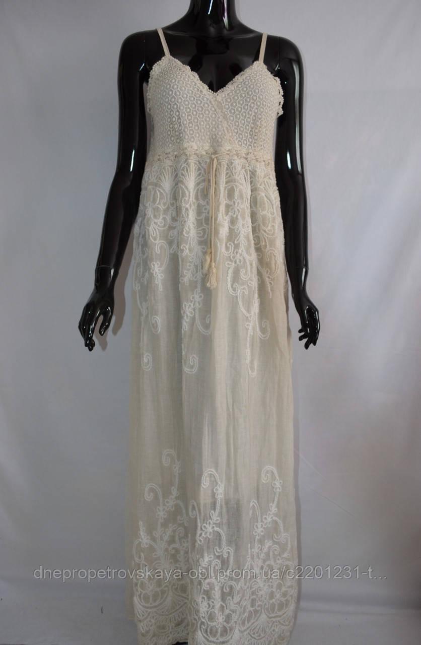 Длинное хлопковое платье Италия