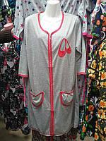 Женский домашний халат на молнии M-XXXL