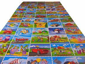 Детский игровой коврик «Мультфильмы»  (размеры 195х95 см)