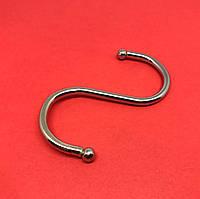 Крючок металлический. Цвет никель. 34х72мм