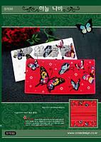 """Набор для вышивания кошелька """"Бабочки (белые)"""" DOME S7030"""